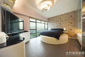 现代风格圆床卧室装修效果图