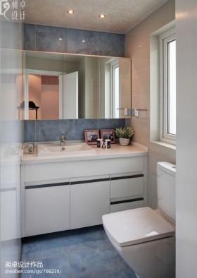 小户型卫生间洗手台组合柜子图片欣赏