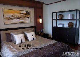 现代中式卧室装修效果图大全2013