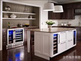 厨房不锈钢酒柜图片