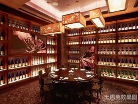 中式风格餐厅酒柜设计图