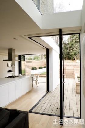 现代别墅装修旋转门图片