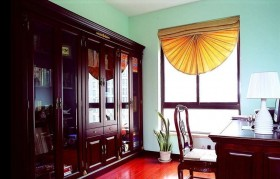 中式风格书房实木书柜图片欣赏