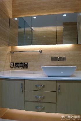 现代风格卫生间洗脸盆柜子组合设计效果图