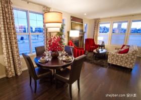 客厅餐厅小餐桌图片