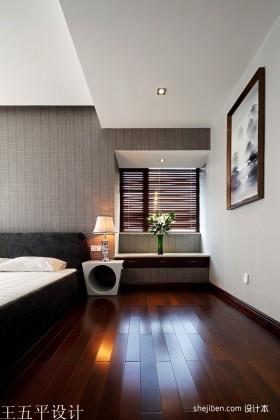 中式风格卧室木地坂装修效果图
