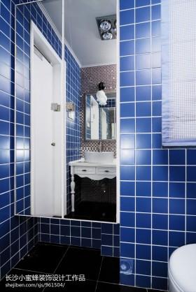 餐厅卫生间蓝色瓷砖效果图