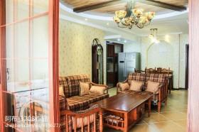 美式田园风格两室一厅装修效果图大全2013图片