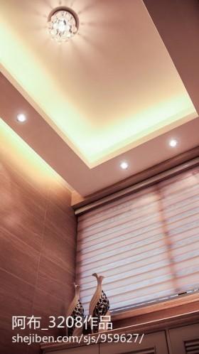灯具现代家庭水晶灯吊顶设计