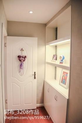 现代家庭房间门设计效果图
