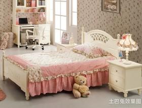 田园风格1.5米儿童床效果图