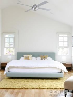 北欧风格卧室1.5米床效果图