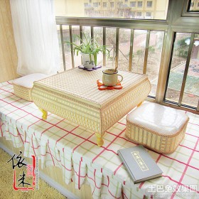 飘窗日式风格榻榻米炕桌装修效果图
