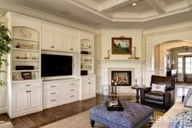 欧式风格客厅电视组合柜图片