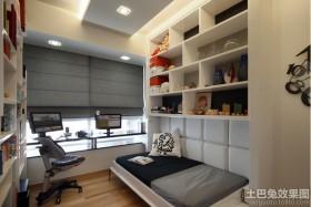 书房折叠沙发床效果图