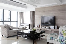 北欧风格客厅瓷砖电视机背景墙效果图大全2013图片