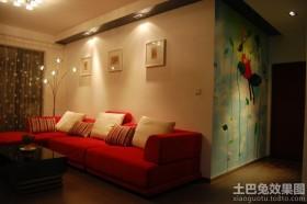 现代家庭装修室内墙体彩绘图片
