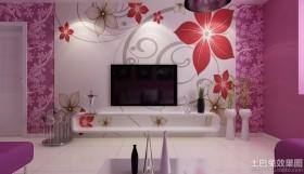 室内墙体彩绘电视背景墙贴图图片