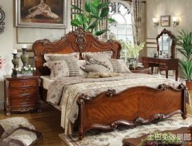 美式卧室1.8米床效果图