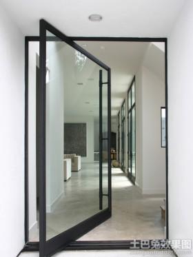 现代风格玻璃推拉门图片