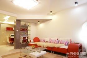 现代风格家装样板房客厅沙发图片