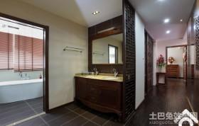 中式风格洗手间隔断屏风效果图