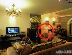 70平米小户型客厅电视墙装修效果图