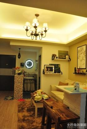 田园风格客厅吊灯图片