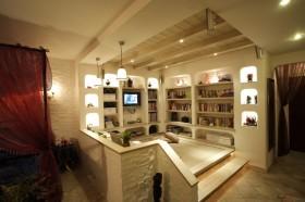 简约50平米小户型书房电视墙装修效果图