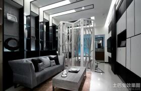 现代风格客厅屏风隔断效果图欣赏