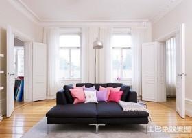简约欧式二居室客厅装修效果图