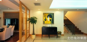 现代简约风格复式楼装修效果图片