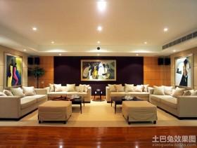 现代简约风格大客厅装修效果图欣赏