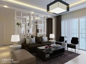简约风格70平米小户型客厅装修效果图