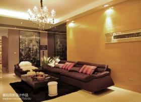 港式风装修客厅水晶吊灯图片