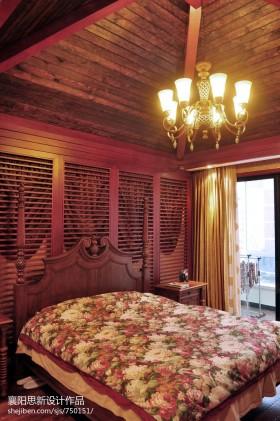 卧室木制天花吊顶效果图