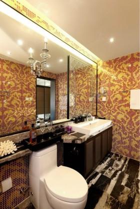 卫生间拼花马赛克瓷砖装修效果图-卫生间装修效果图大全2017图片 卫