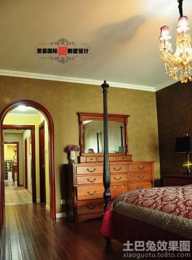美式卧室过道木地板贴图