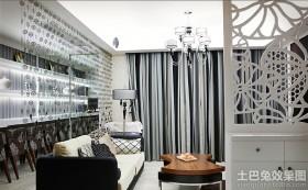 客厅镂空屏风隔断装修效果图欣赏