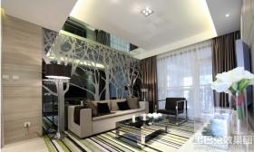 20平米客厅现代装饰效果图
