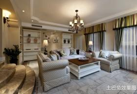 欧式风格家庭客厅装饰装修效果图
