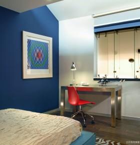 卧室书桌墙漆效果图