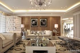 欧式风格100平米二居客厅装修效果图