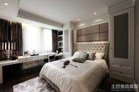 简约欧式卧室样板间装修效果图