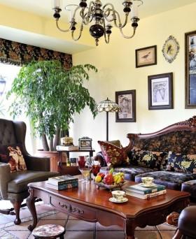 美式客厅沙发茶几图片欣赏