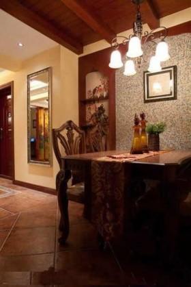 餐厅马赛克瓷砖背景墙装修效果图欣赏