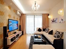 简约风格60平米小户型客厅电视墙效果图