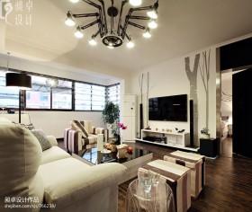 20平米现代客厅装修效果图欣赏