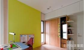 书房黄色内墙涂料效果图