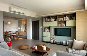 简约风格两室两厅客厅电视墙效果图